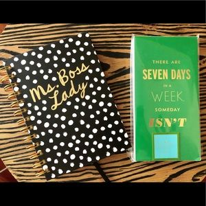 Two Notebooks Kate Spade and Hallmark
